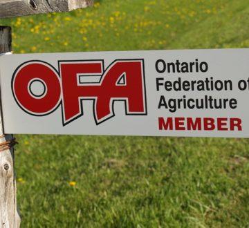 OFA member gate sign