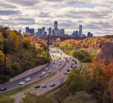 entering Toronto - birds eye view