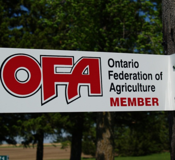 OFA member gate sign