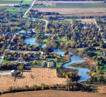 aerial view Mitchell ON