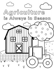 Agriculture is Always in Season Colouring Book cover